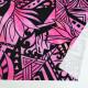 ハワイアン生地 ストレリチア×カヒコ柄 ストレッチベロア生地 ピンク KH-552-PI-V