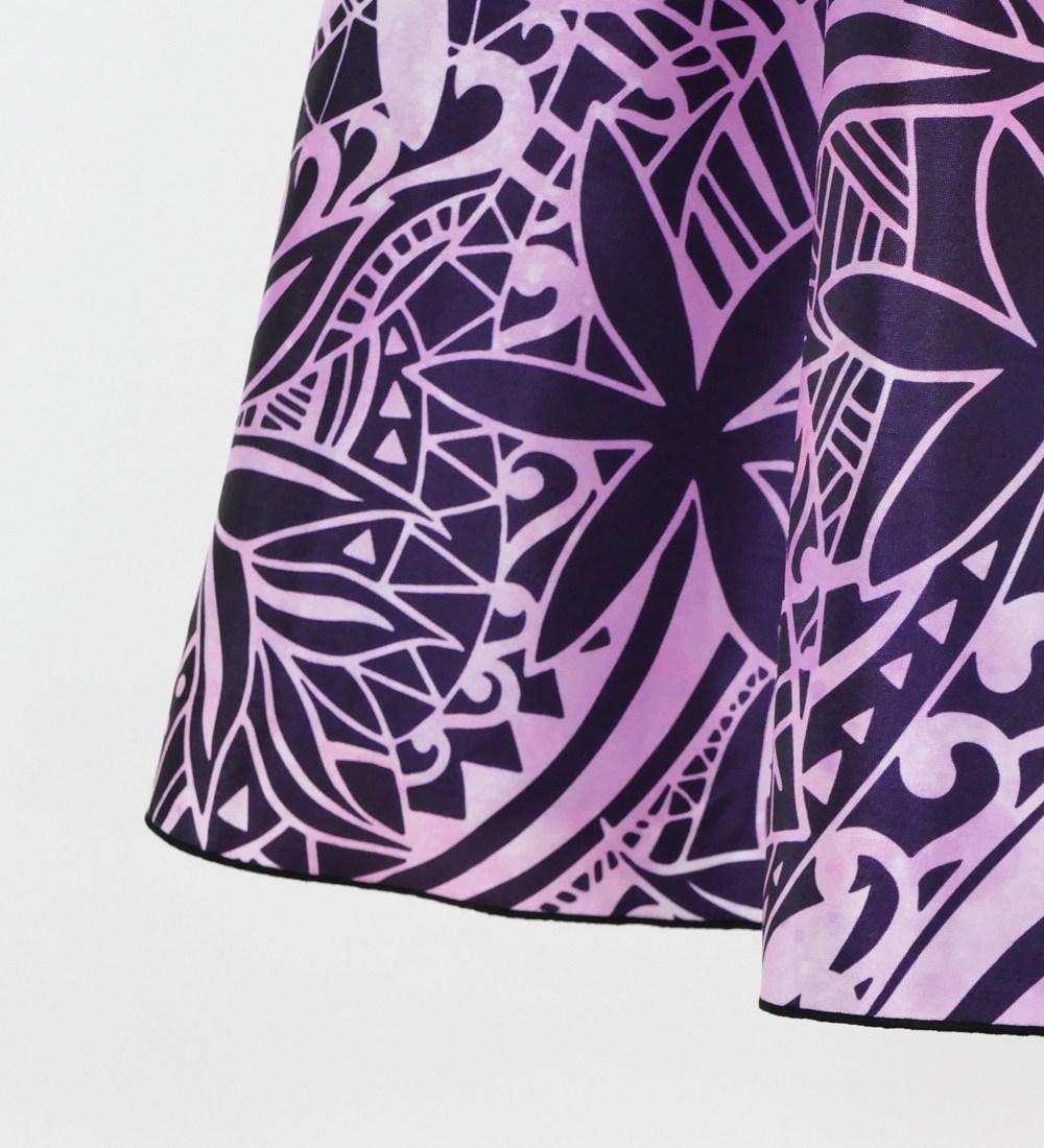 フラドレス ストラップレス ロング丈 ヘリコニア柄 ピンク M-LLサイズ J2679pi