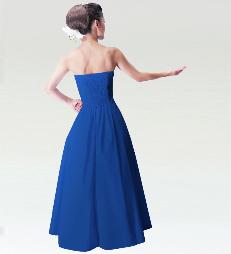 フラドレス ストラップレス ロング丈 ブルー M(F)サイズ 2550blF