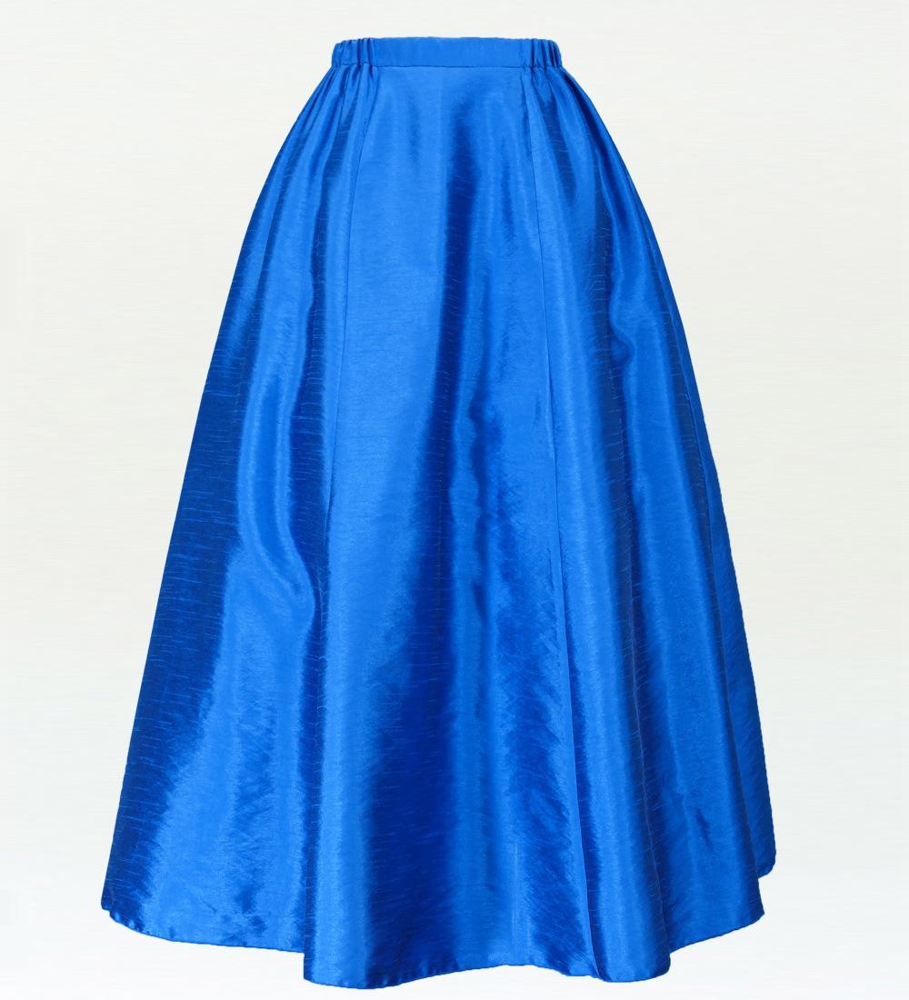 フラダンス シャンタン 【Lサイズ】 ロングフレアスカート 【L】 ブルー 2447blL