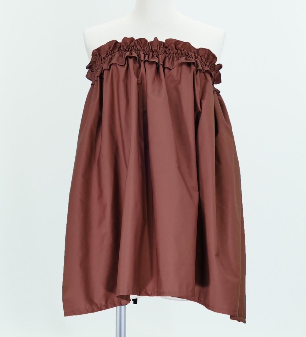 フラダンス パウスカート&チューブトップ セット ブラウン 1668br