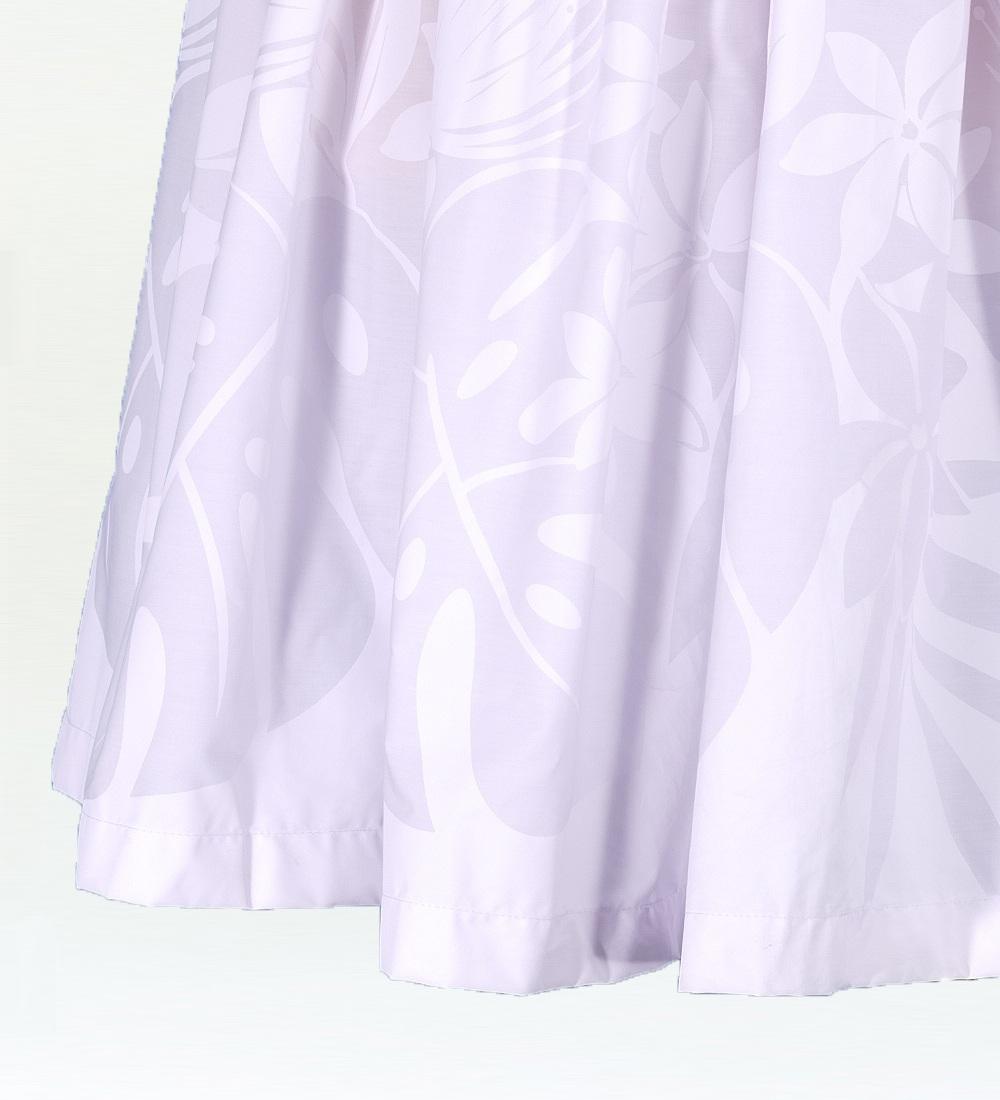 フラダンス パウスカート シングル78cm丈 ホワイト 1999