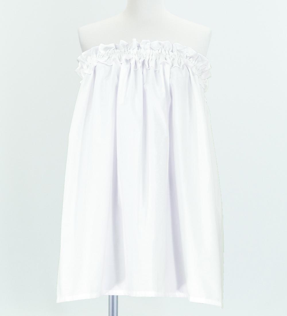 フラダンス パウスカート&チューブトップ セット ホワイト  1668w