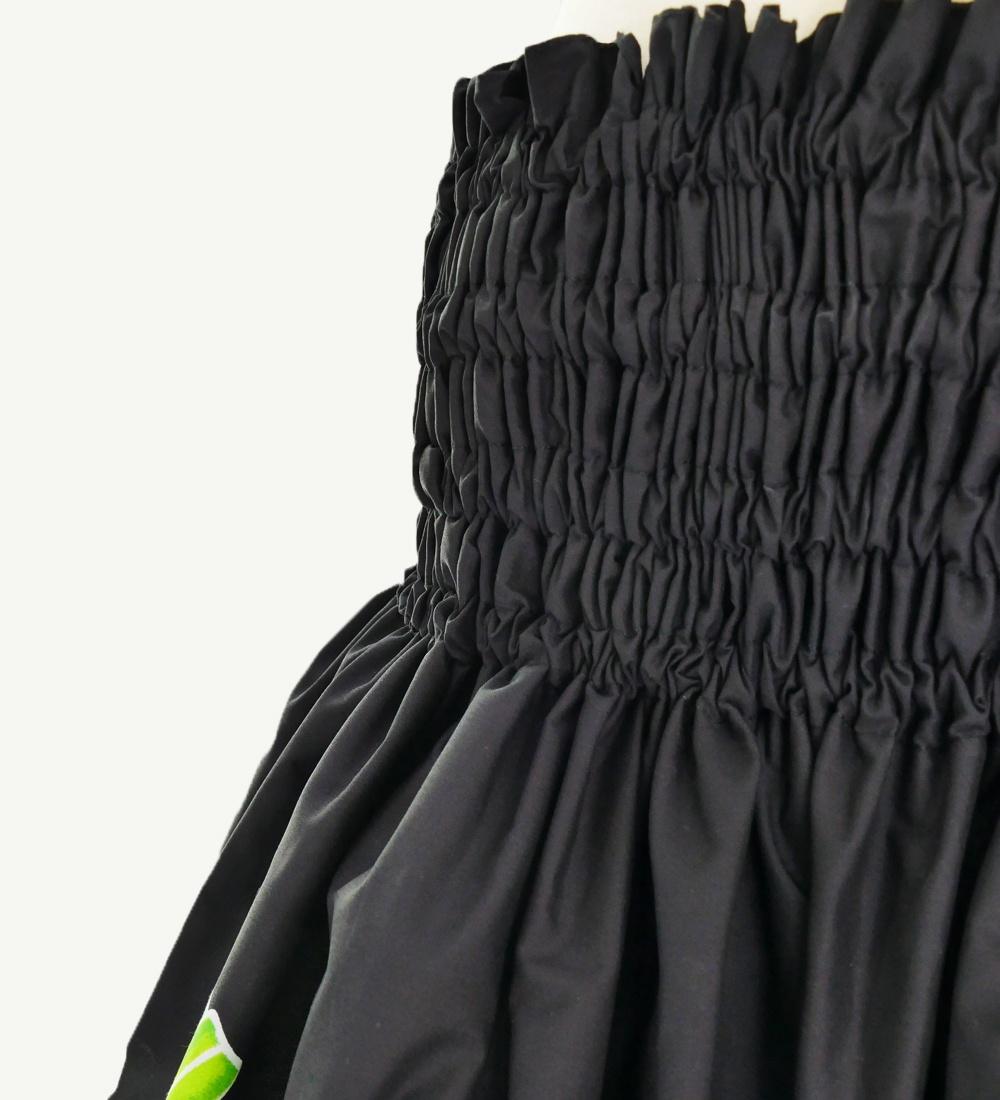 フラダンス パウスカート シングル73cm丈 ブラック 2609