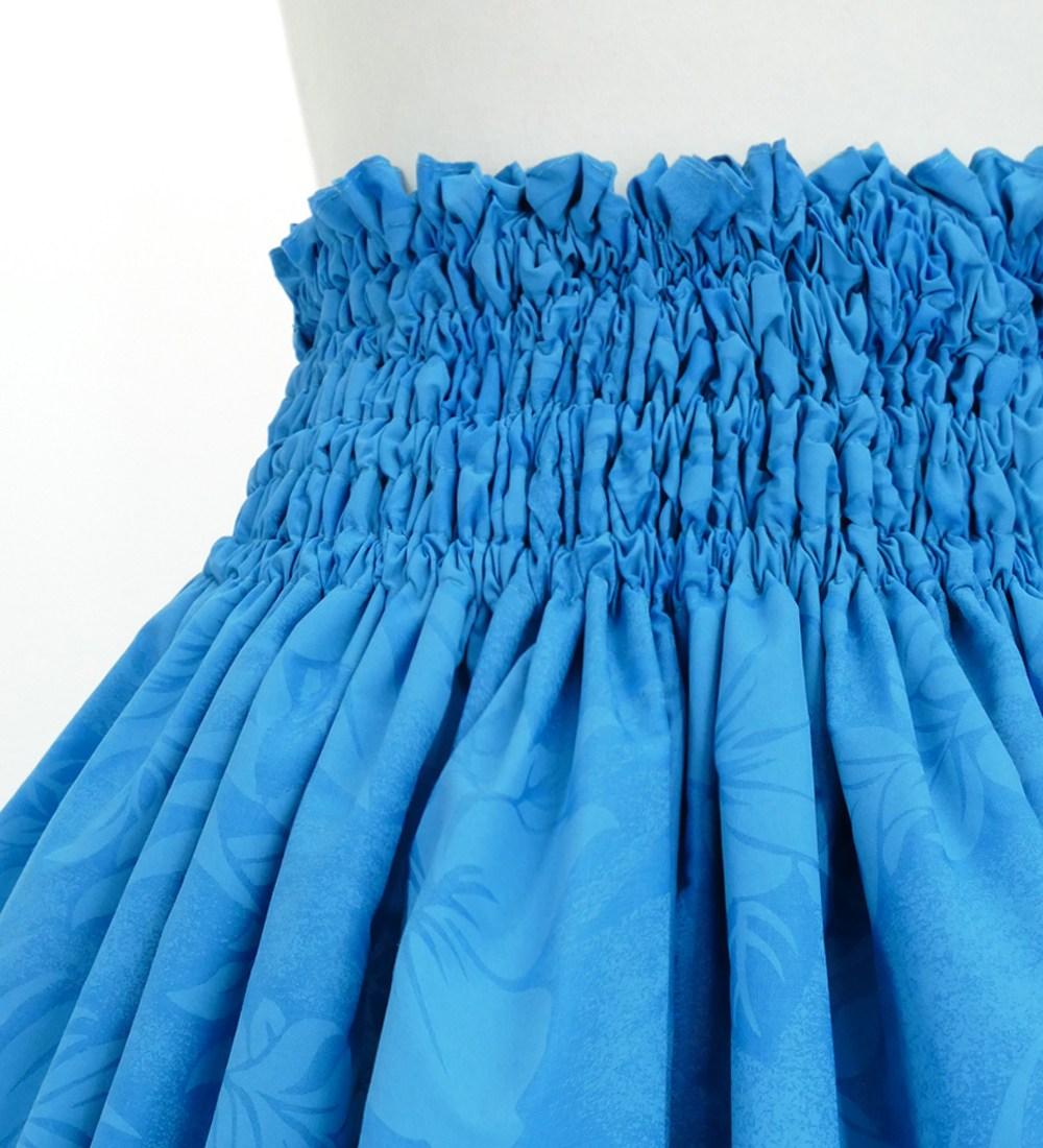 フラダンス パウスカート シングル73cm丈 ブルー 2673