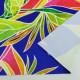 ハワイアン生地 ヘリコニア柄 ストレッチベロア生地 ブルー KH-546-BL-V