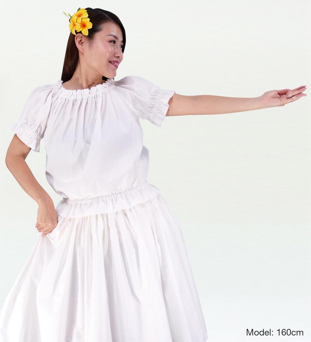 フラダンス ブラウス ホワイト M(F)サイズ 1665wf