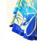 フラダンス パウスカート シングル73cm丈 ピンク×ブルー 2617