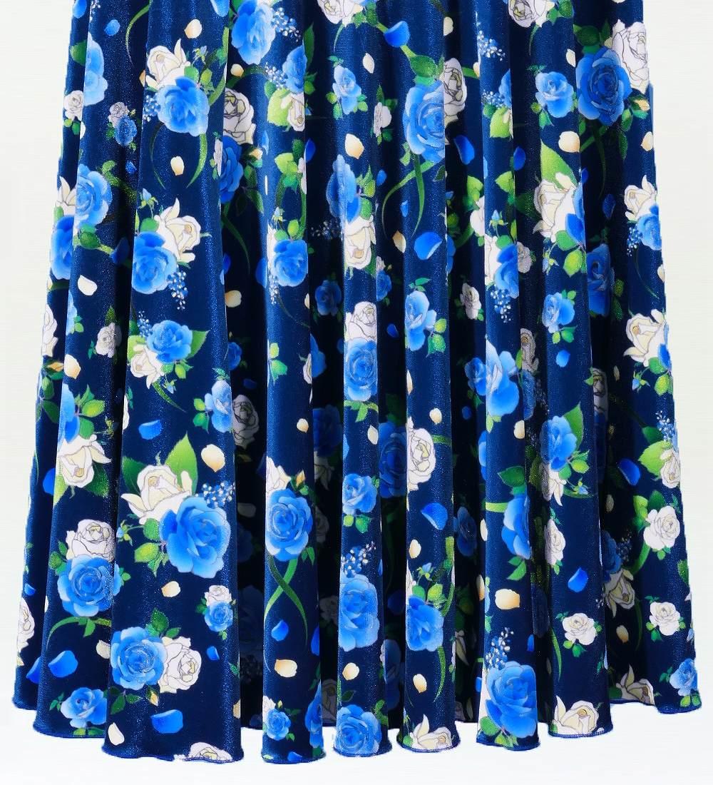 Mサイズ フラメンコ ローズ フリル セットアップ ブルー×ブルー 2449blblf
