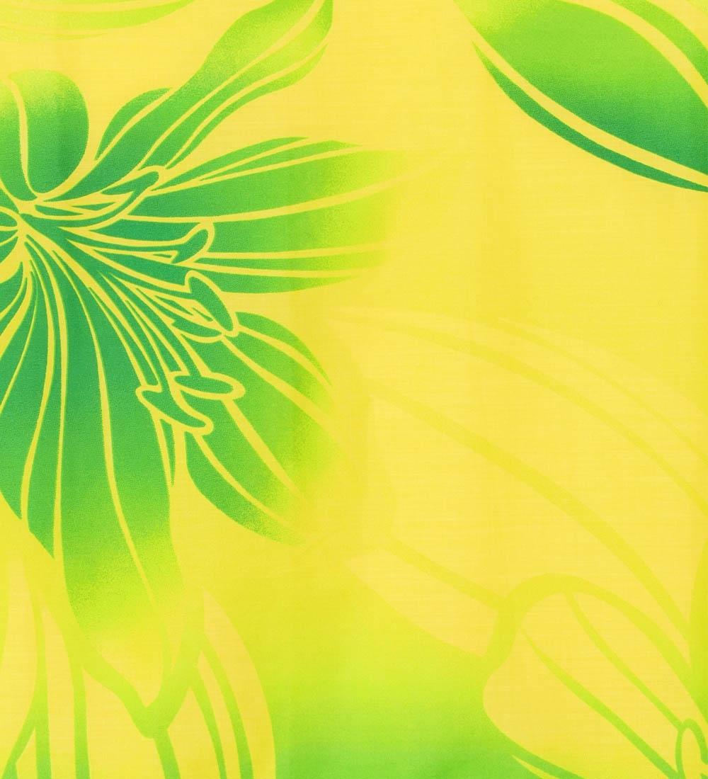 フラダンス パウスカート シングル73cm丈 イエロー×グリーン 1806