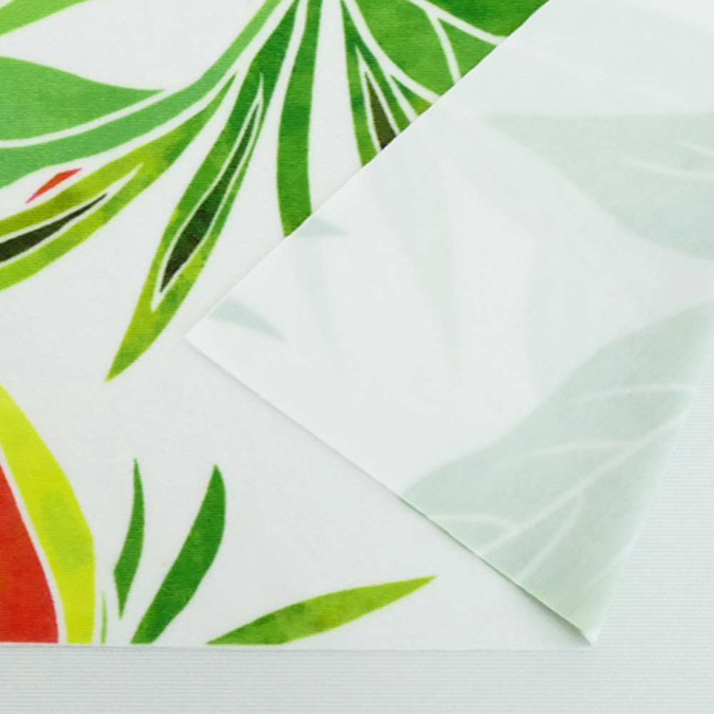 ハワイアン生地 ヘリコニア柄 ストレッチベロア生地 ホワイト×レッド KH-546-WHRD-V