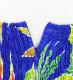 フラドレス ロング丈 ヘリコニア ブルー M-LLサイズ J2687bl