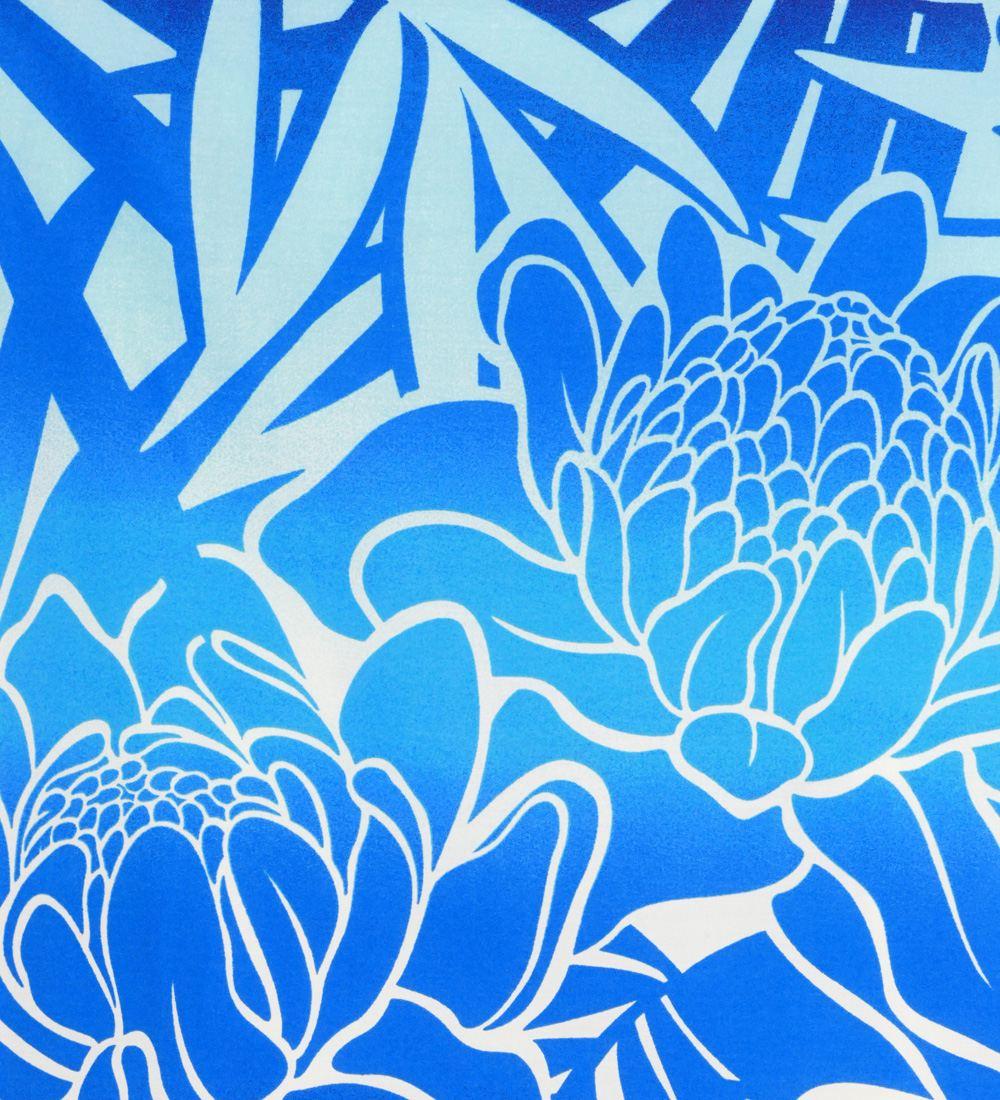 フラダンス パウスカート シングル73cm丈 バイカラー ブルー 2628