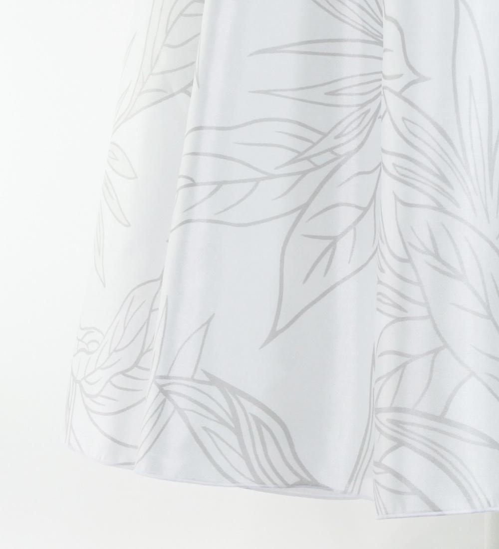 フラドレス ロング丈 ヘリコニア ホワイト M-LLサイズ J2687wh