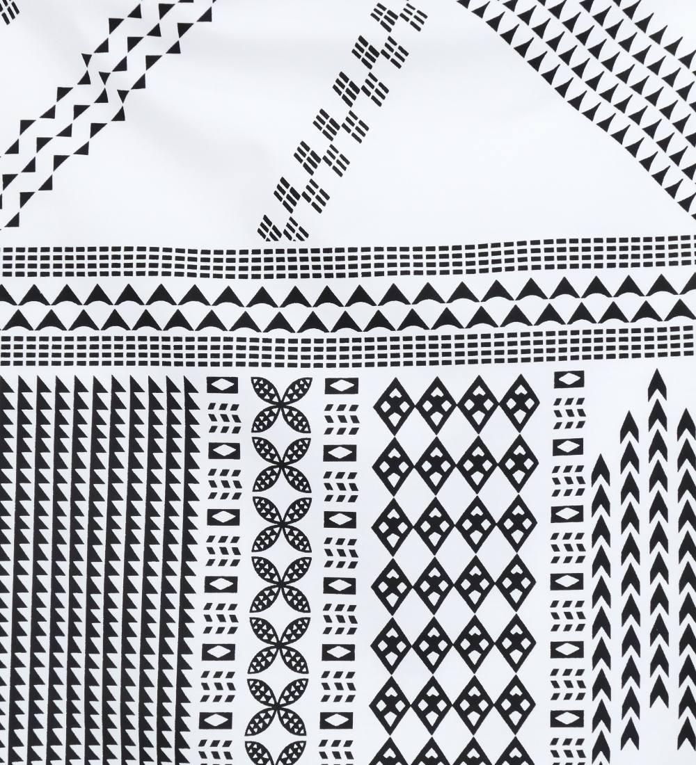 フラダンス パウスカート シングル73cm丈 ホワイト×ブラック 2641