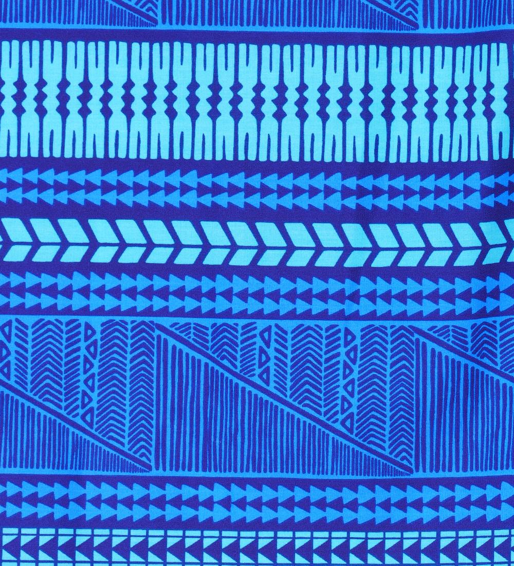 フラダンス ダブル リバーシブル パウスカート 73cm丈 ブルー 2435