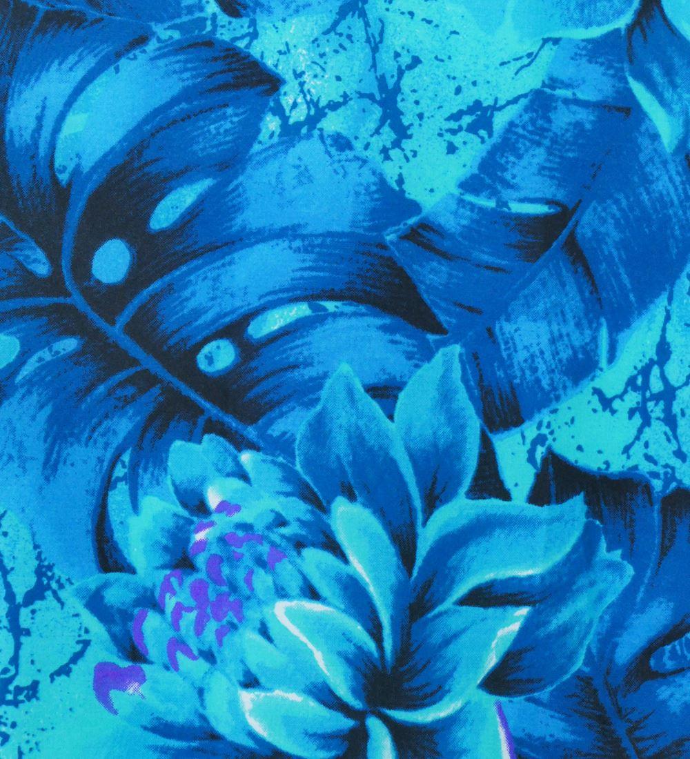 フラダンス パウスカート シングル73cm丈 バイカラー ブルーグリーン 2637