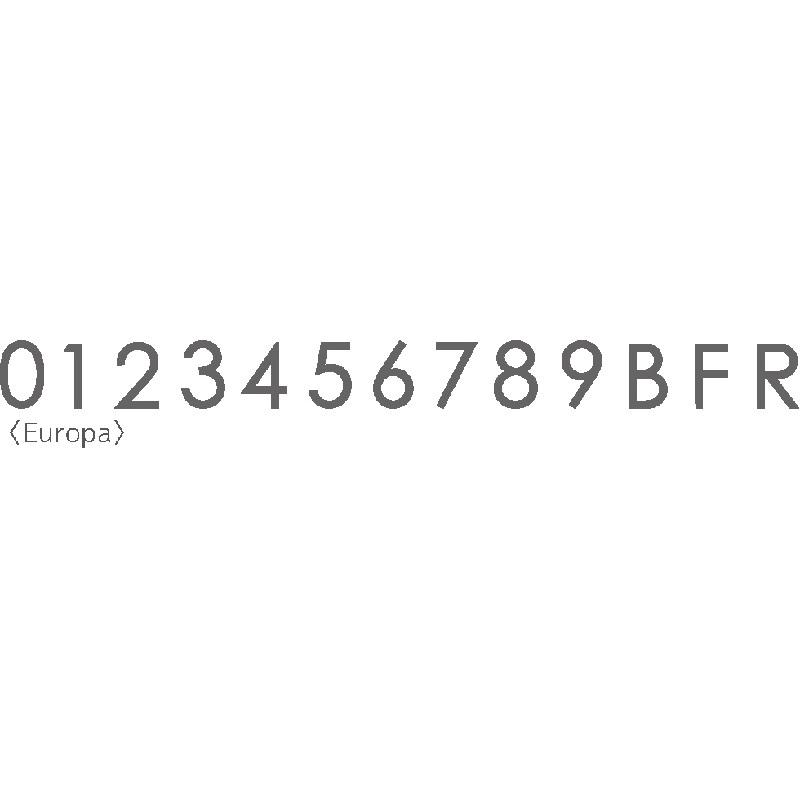 文字サイン スチールHT H60/H150