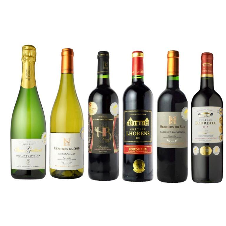 【送料無料】 <br>信濃屋直輸入ワイン フランスワイン6本セット