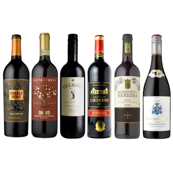 【送料無料】 <br>信濃屋厳選 世界の赤ワイン 6本セット