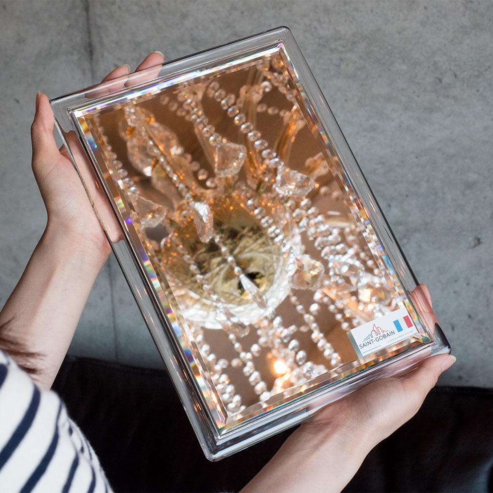 九鏡 ショコラ フレーム付き鏡