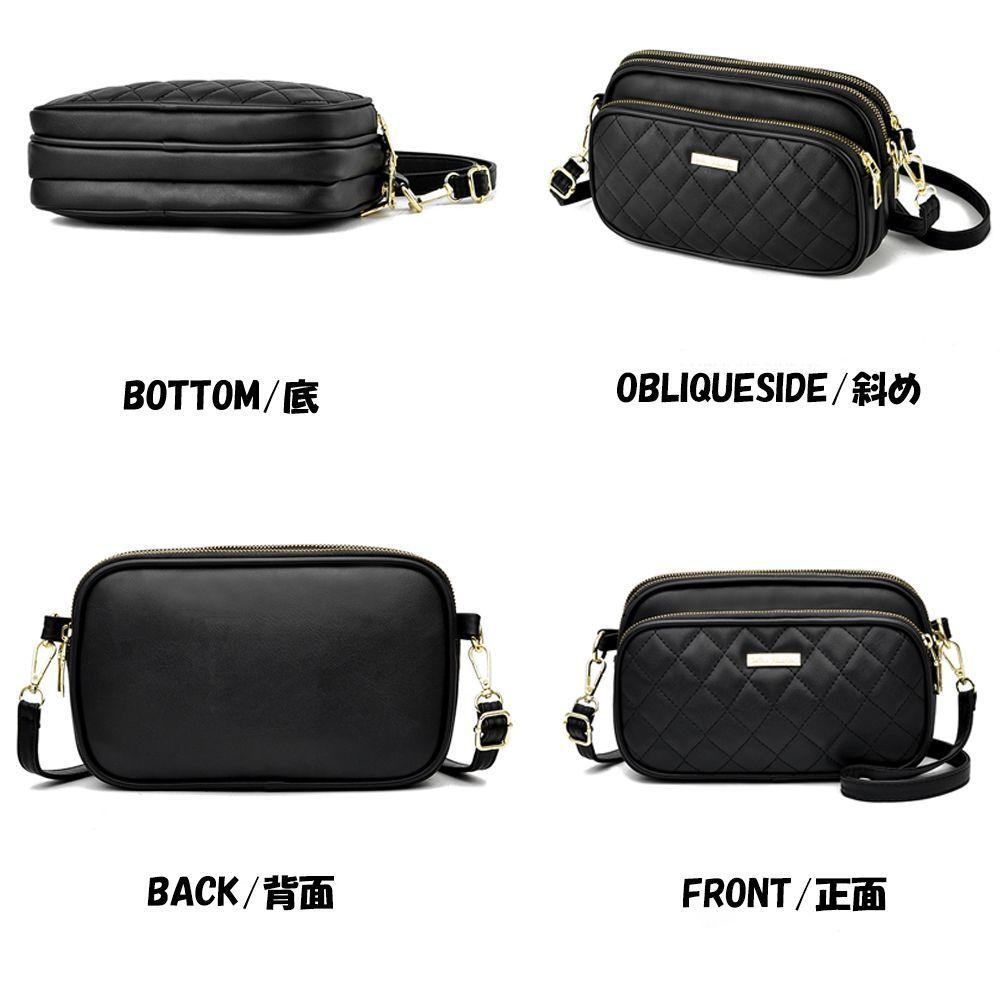 ショルダーバッグ レディース 斜めがけ キルティングバッグ 3ポケット コンパクトバッグ 軽量 大人 マザーズバッグ