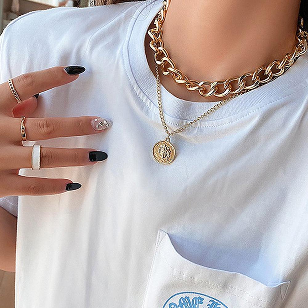 ボリューム チェーンチョーカー レディース 韓国 ファッション アクセサリー ゴールド シルバー チェーン 太め【ネコポス可】