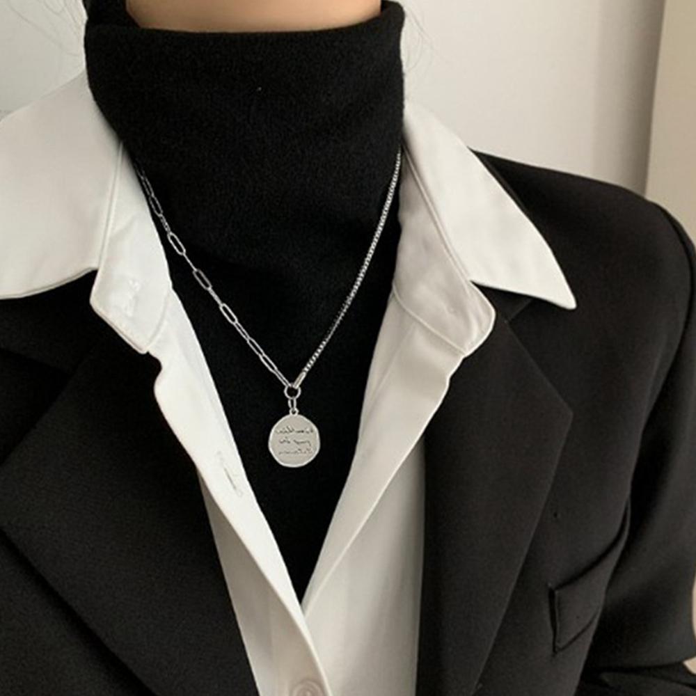 チェーンネックレス レディース ケーブル 非対称デザイン お洒落 人気ギフト シンプル メタル アクセサリー 韓国 ファッション【ネコポス可】