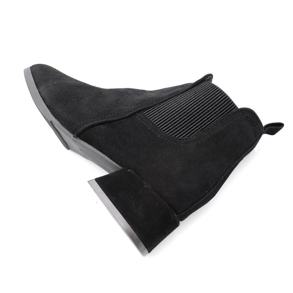 ショートブーツ レディース ブーティー サイドゴア 太ヒール ローヒール靴 スエード 歩きやすい
