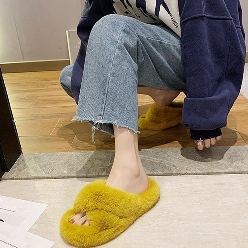 秋 冬 フェイク ファー サンダル ルームシューズ 履きやすい シューズ 靴 室内用 あたたか ふわふわ 大人 レディース【ネコポス可】