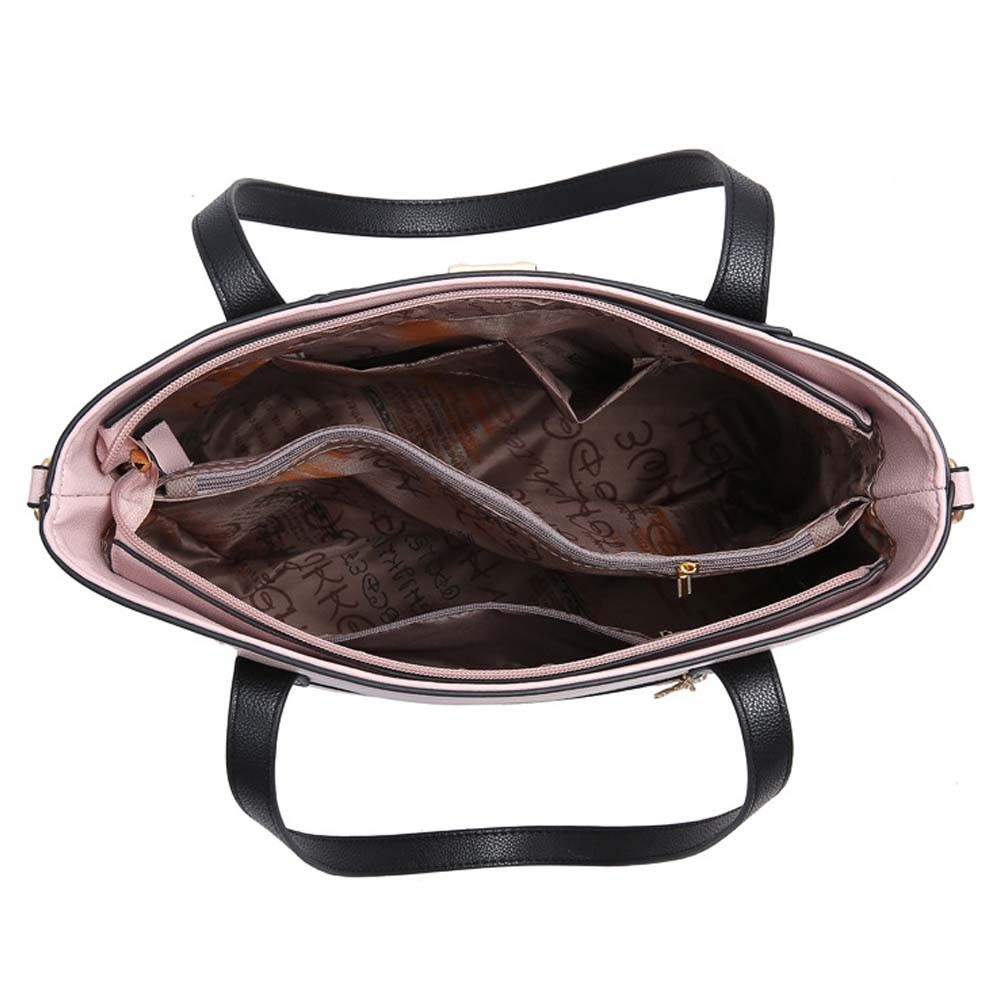 2wayトートバッグ レディース バイカラー ショルダーバッグ おしゃれ 斜めがけバッグ 大きめ レザーバッグ 大容量