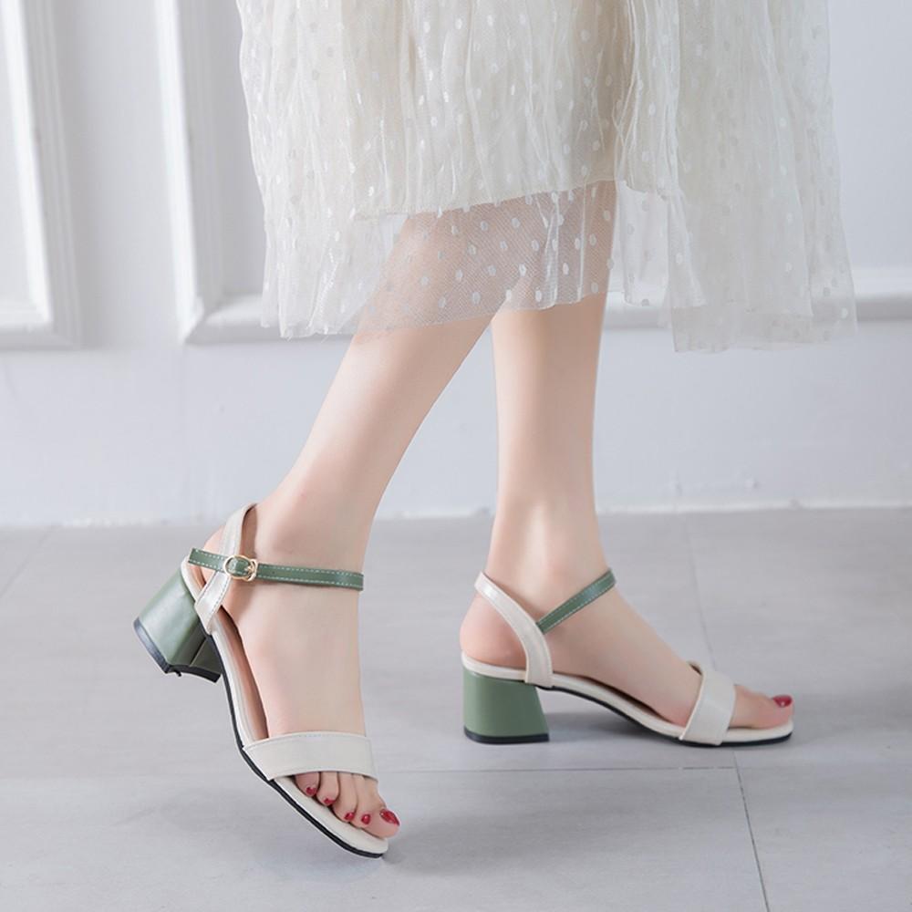 サンダル レディース 靴 太ヒール ハイヒール ストラップ 春夏 歩きやすい