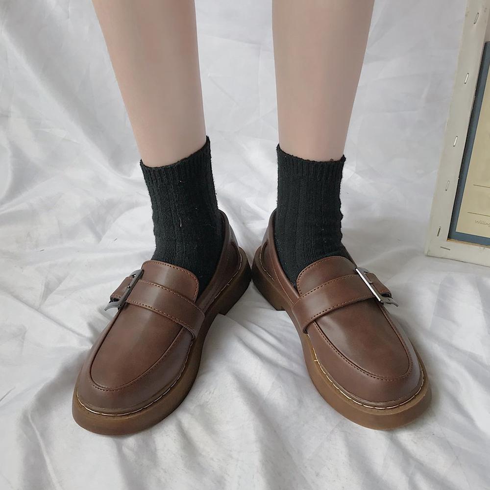 ローファーシューズ レディース 可愛い ローヒール 厚底 韓国風 履きやすい 疲れない  シンプル