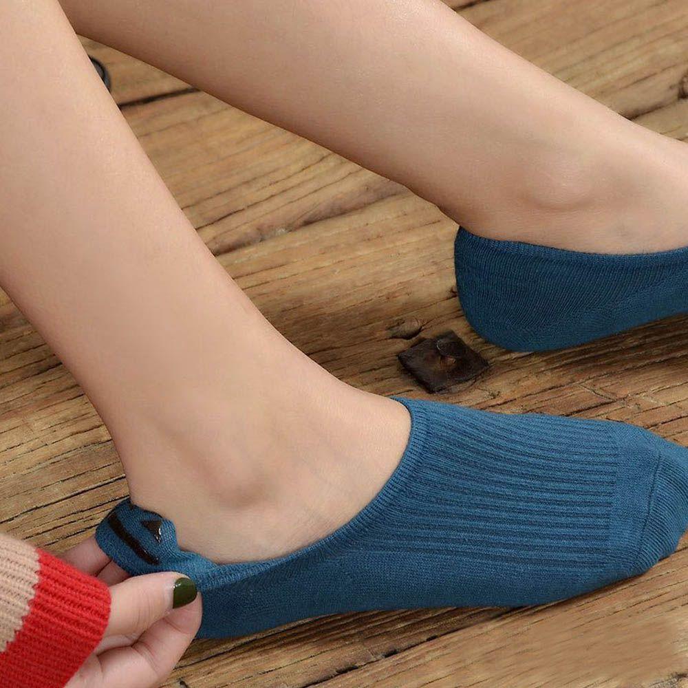靴下 レディース 滑りにくい ソックス 浅履き フットカバー 無地 インソックス 婦人【ネコポス可】