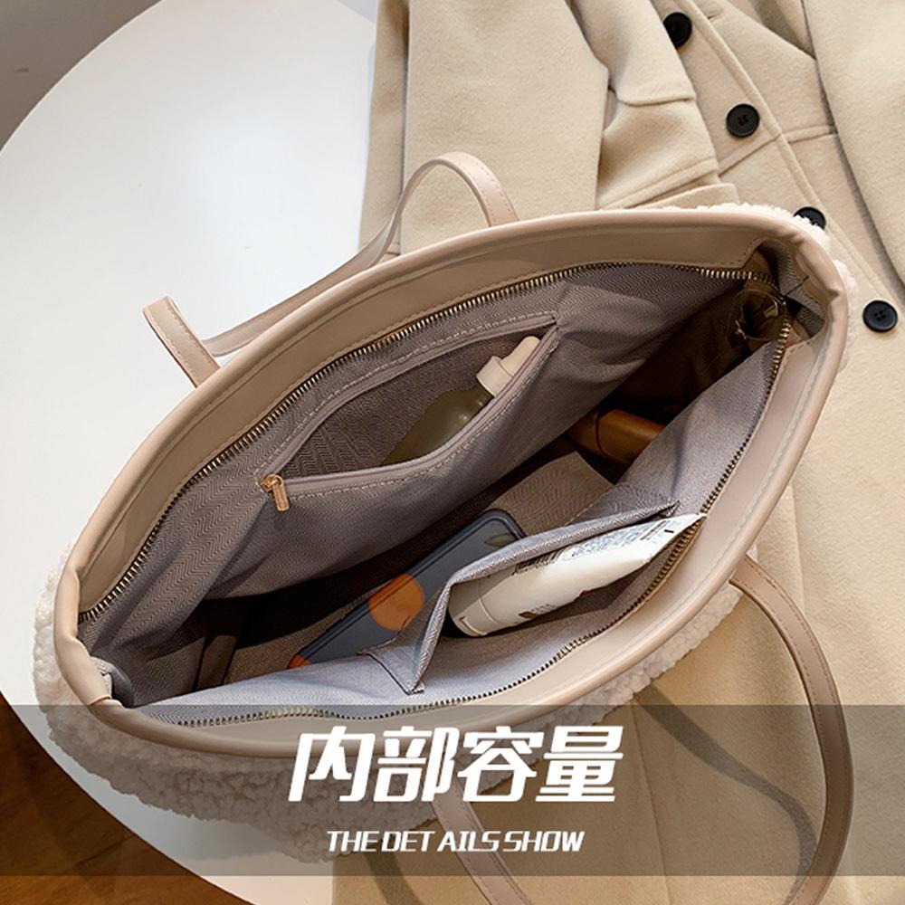 ボアバッグ レディース トートバッグ もこもこ カジュアル 肩掛けバッグ シンプル スクエアバッグ おしゃれ 手持ちかばん 通勤【ネコポス可】