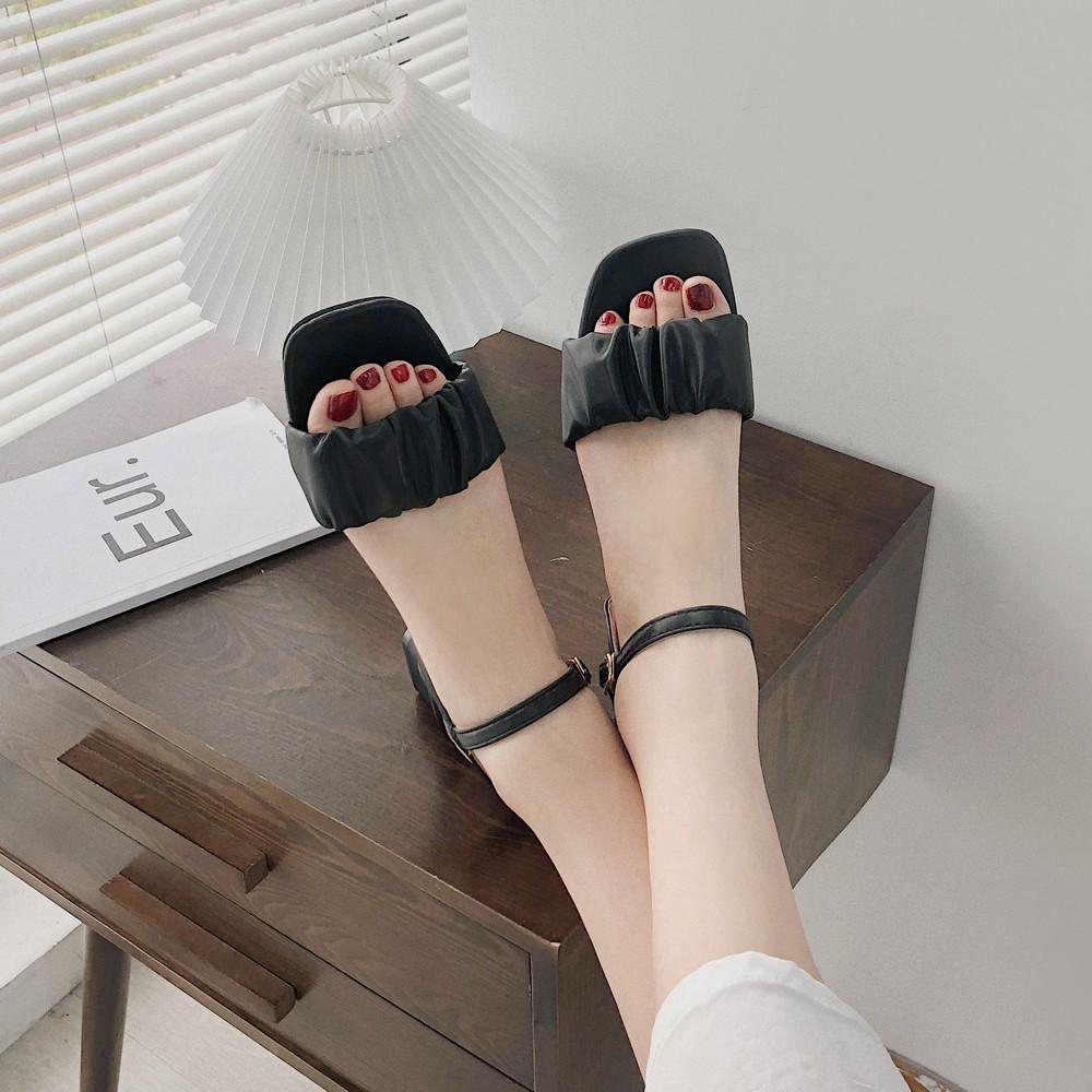 サンダル レディース 靴 太ヒール ハイヒール ストラップ 春夏 歩きやすい 韓国風