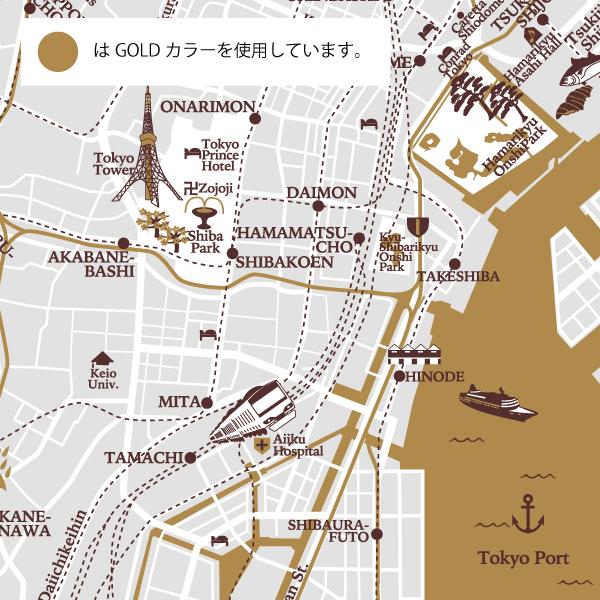 【WEB限定】Evereon 60cm SLIM MAP Tokyo Brown