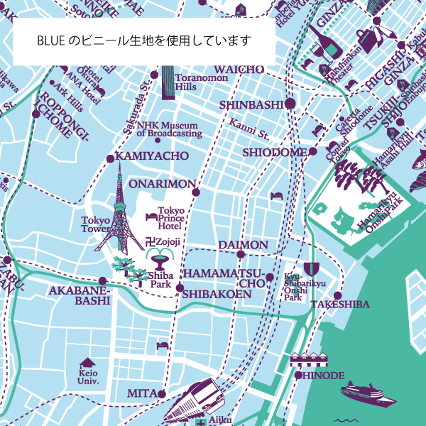 Evereon 張替生地 60cm用アンブレラマップNEW TOKYO