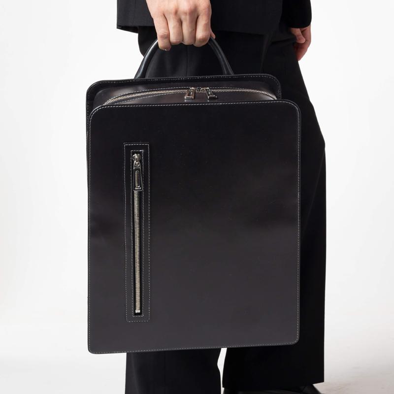 日本製 スーツ姿にあう大人通勤リュック 撥水加工されたレザー 大人ランドセル  2WAY ビジネスリュック balk 「Time 2」