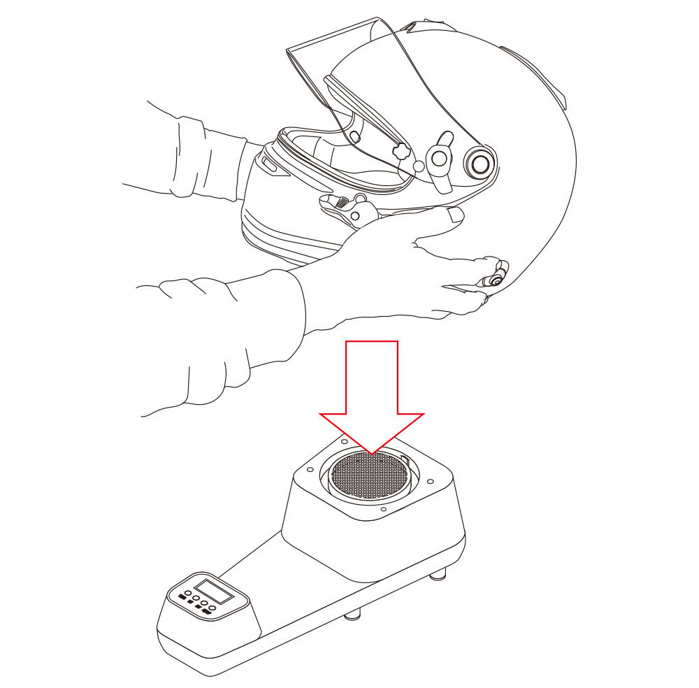 ヘルメットの必需品!ヘルメットドライヤー ドクタードライ Dr.Dry Helmet Dryer