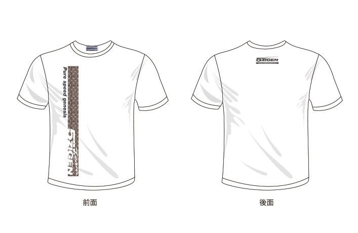 5ZIGEN オリジナルTシャツ カラー:黒、白 (5T001)