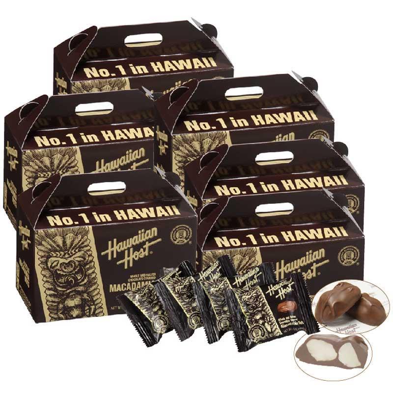 【今だけ50%OFF】ハワイアンホースト マカデミアナッツチョコティキミニボックス6箱セット