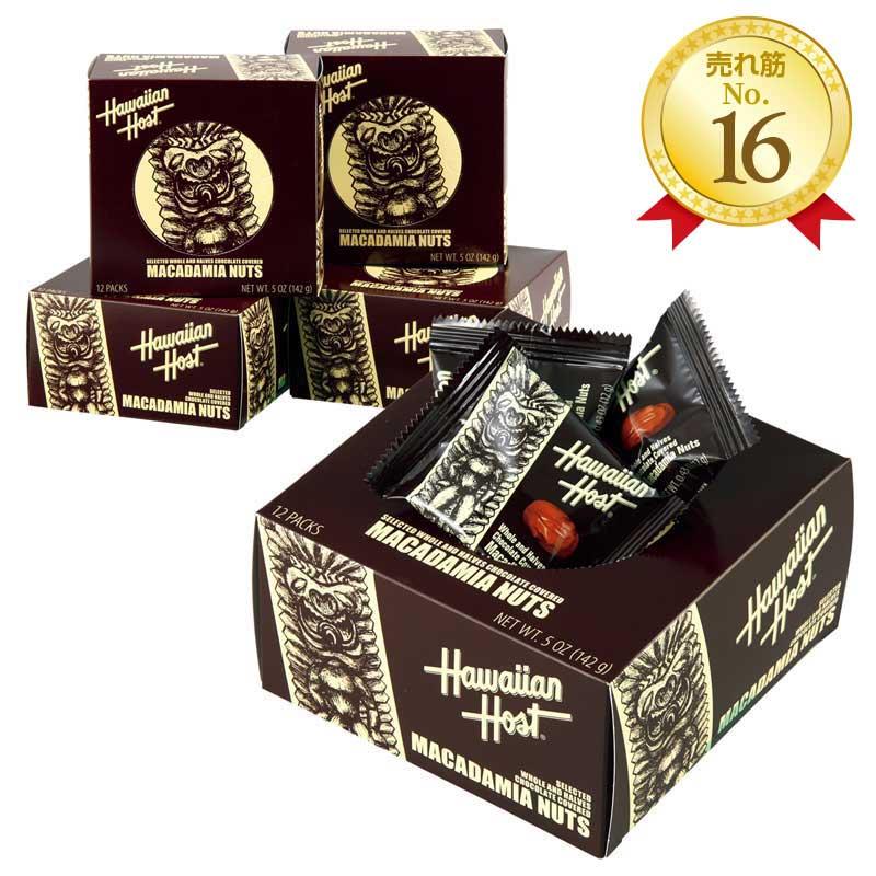 【期間限定:今だけ60%OFF】ハワイアンホースト マカデミアナッツチョコTIKIボックス4箱セット