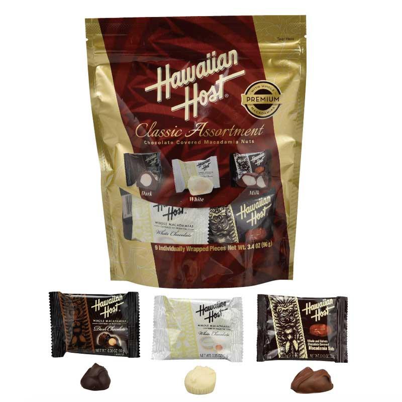 【今だけ30%OFF】ハワイアンホースト マカデミアナッツチョコクラシックアソートスタンドアップバッグ