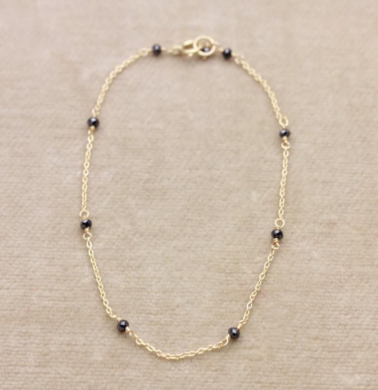 ぺパンブレスレットBL-06ブラックダイヤ