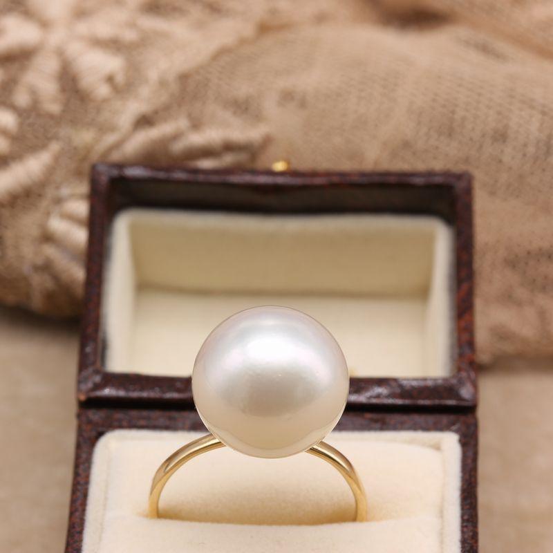 南洋真珠リングR-01ホワイト13mm