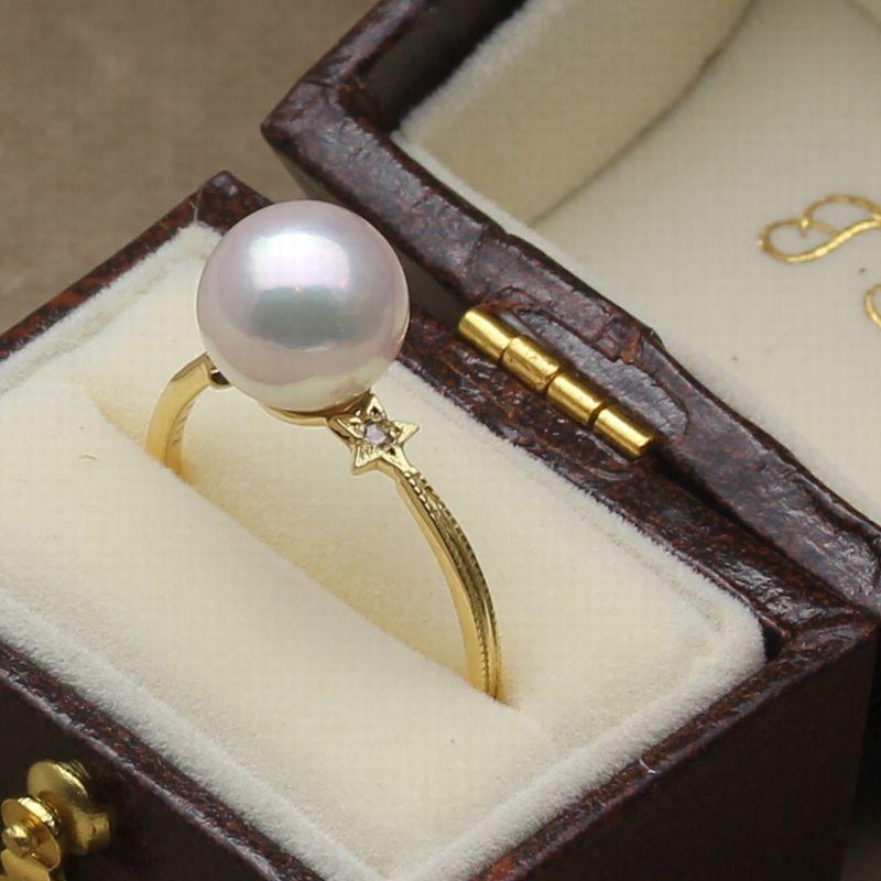 ステラリングR-01 アコヤ真珠