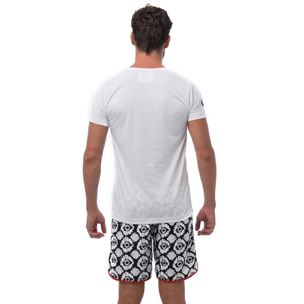 【水陸両用 メンズ ラッシュ Tシャツ】MTYWH-PC 柄:WHITE