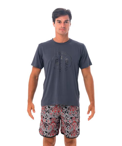 【メンズ 半袖ラッシュTシャツ UVカット】MTZOSS-GY 柄:69 CROSS