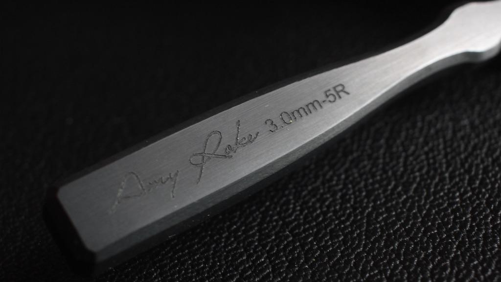 Reversed 5刃 - AmyRoke prickingiron(アミーローク ヨーロッパ逆目打ち)